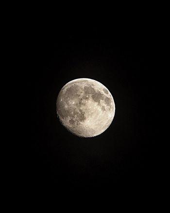 Moon - iPhone 5S - binoculars Space Moon Dark Night Earth World Hello World Universe Astrophotography