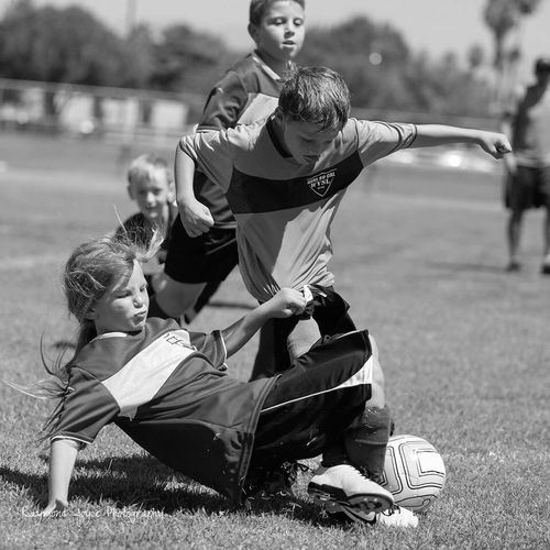 Intensity... Soccer Intense Black & White Sports Photography