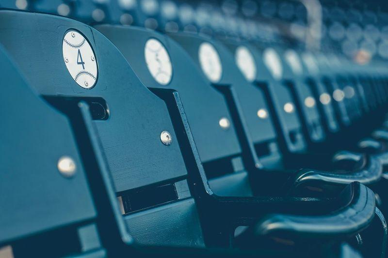 The Week On EyeEm EyeEm Gallery Close-up Full Frame Stadium Seat Seating Row Pattern Repetition Repeating Patterns Concert EyeEm Best Shots Eye4photography  EyeEm EyeEmBestPics Eye4photography  Exceptional Photographs Exceptional Photography Stadium Seating BallPark Baseball Sports