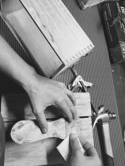 Hands At Work Sanding Working Hard IPhoneography My Hand  Projects Blackandwhite Blackandwhite Photography