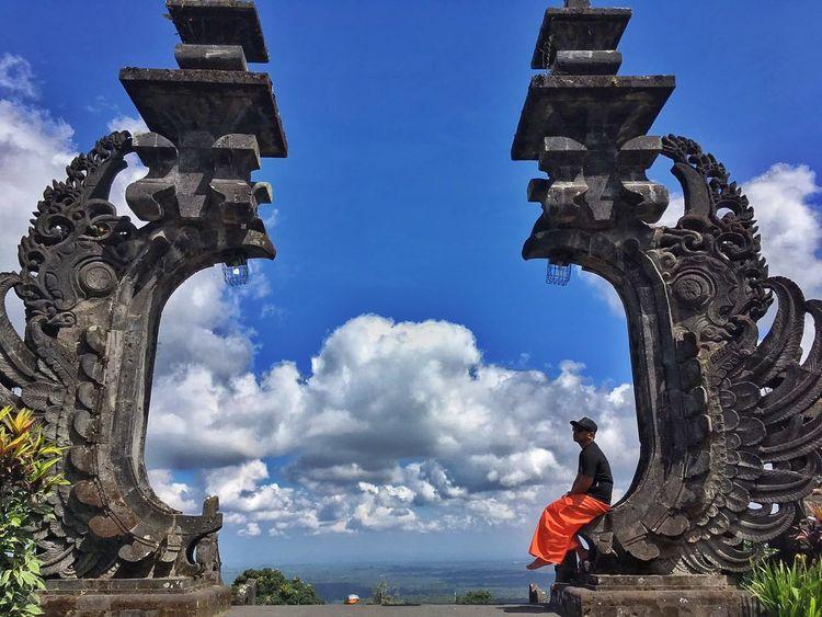 Architecture Statue Travel Destinations Cloud - Sky Sky Day Blue People Outdoors Purabesakih Bali, Indonesia