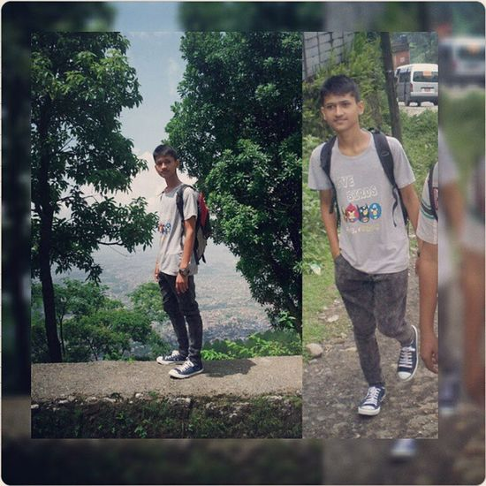 Exactly a year ago while hiking at Shivapuri Hill! Summer💛 Instaupload Instaing Loveinstaing❤