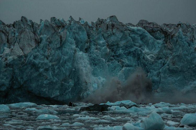 Glaciers Melt Alaska Blueice Cold Temperature Frozen Glacier Iceberg Nature No People Outdoors Splash