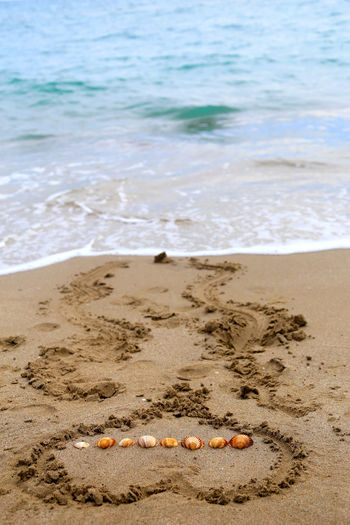 Beach Beauty In Nature Close-up Coastline Day Heart Telling Stories Differently No People Non-urban Scene Ocean Outdoors Remote Rippled Sand Scenics Sea Shore Sunny The KIOMI Collection Tranquil Scene Tranquility Vacations Water Wave Art Is Everywhere