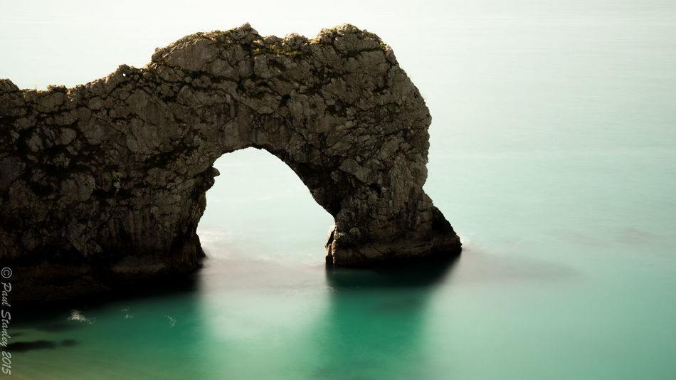 Durdle Door Rocks Rocks And Water Long Exposure Green Blue Water Beach Arch