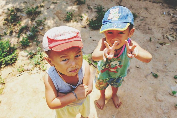 Why so serious? ASIA Outdoors People Men Day Human Representation EyeEmNewHere Friendship Boys Cute Cap Child