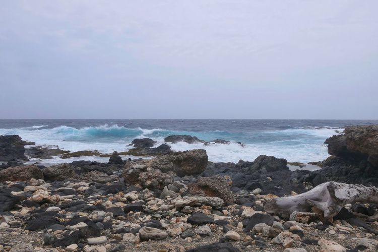 aruba Aruba No People Lumix Island Pebble Beach Water Wave Sea Beach Sand Pebble Sky Horizon Over Water Rocky Coastline Seascape Rock Formation Crashing Coastal Feature Coastline Rugged Coast Rock Eroded