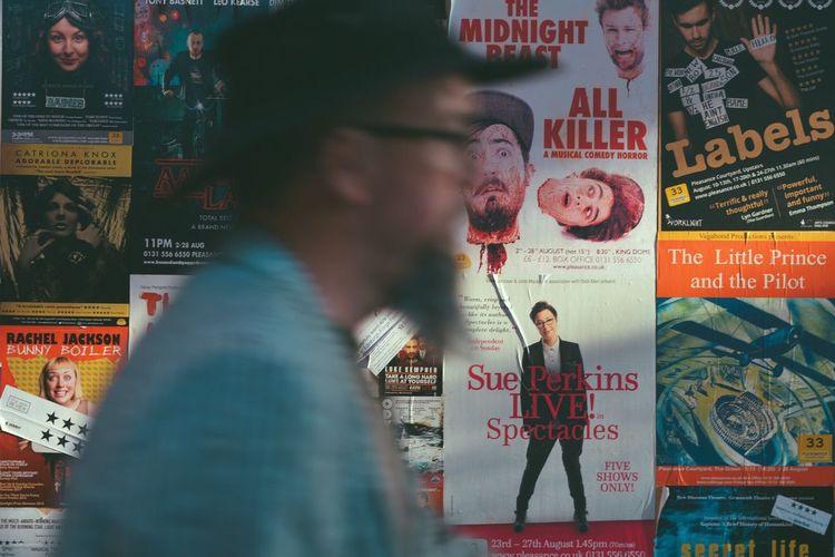 2017 Edinburg Art Festival Art Festival Drama Go Through Art Day Text Walking Man