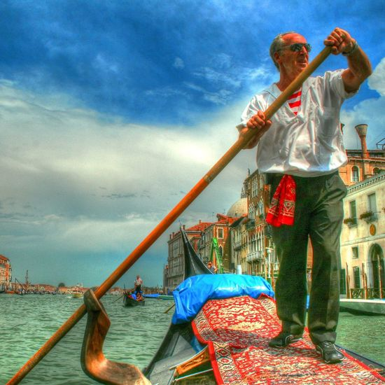 Canal Gondola Gondola - Traditional Boat HDR HDR Collection Rob Handgraaf Fotografie Venice Canals Venice, Italy