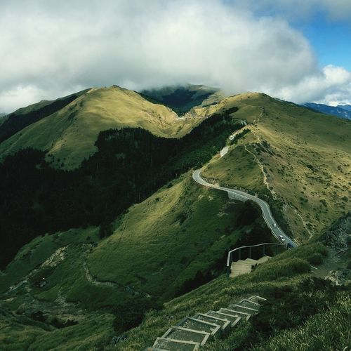 Taiwan YuShan Mountain Cloud - Sky Nature Scenics Landscape Desert Beauty In Nature Day Travel Destinations Outdoors Sand Dune Sky No People Nature Reserve Winding Road Hehuanshan Mountain Trails Flying High
