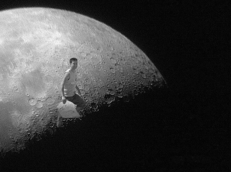 Walking on that Moon... Composition Moon One Person Nature Men Night The Creative - 2018 EyeEm Awards Real People Outdoors Silhouette Black Background Black Color