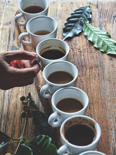 EyeEm Selects Coffee and others drink testing at Bali Pulina Plantation, Bali, Indonesia. Human Hand Coffee Cup Coffee - Drink Drink Coffee Coffee Time Food And Drink Cup Lifestyles Still Life Human Finger Table Coffee Plantations EyeEmNewHere Food Stories