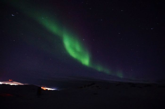 Dancing in the sky.😀✨ Nature_collection Nature Ilulissat Northern Lights Aurora Auroraborealis Aurora Borealis This Is Greenland The Real Greenland Night Beauty In Nature Nature Sky Outdoors