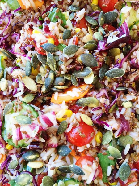 Summer Rice Salad Salad Freshness Colour Of Life Healthy Food Healthy Eating Home Food Mediterranean Food Eat Food And Drink Food Porn Food Lunch Lunchtime Colorful