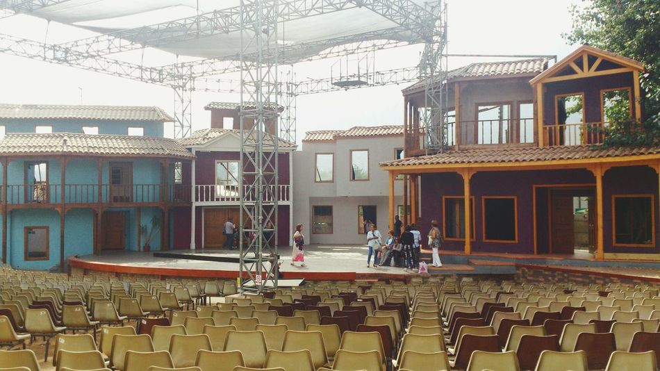 Architecture Built Structure Building Exterior House Person Day Teatro Taking Photos Olmué Chile Theater