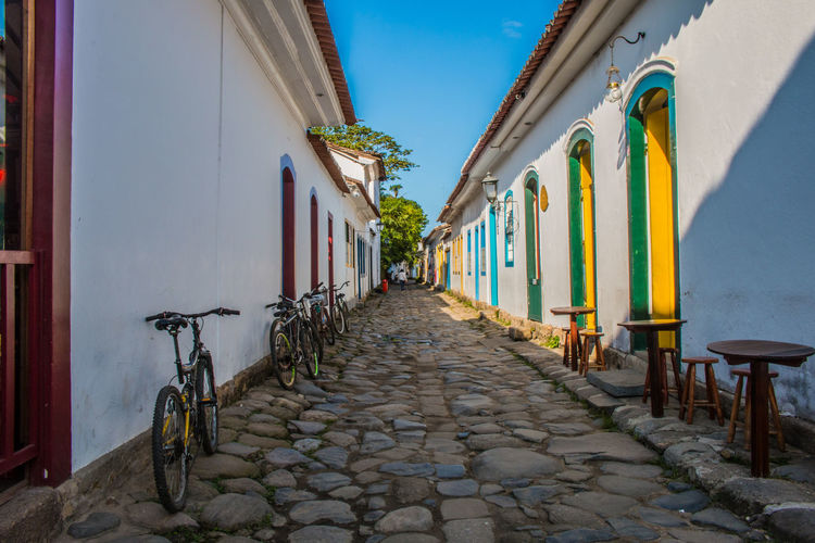 Architecture Bike Brazil Exterior Historic Center Historic City Old Outdoors Paraty Perspective