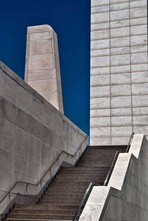 Abstract Architectural Feature Architecture Blue Brick Wall Building Building Exterior Built Structure Day Exterior Fine Art Photography Low Angle View No People Outdoors Sky Stairs Sunlight Sunny
