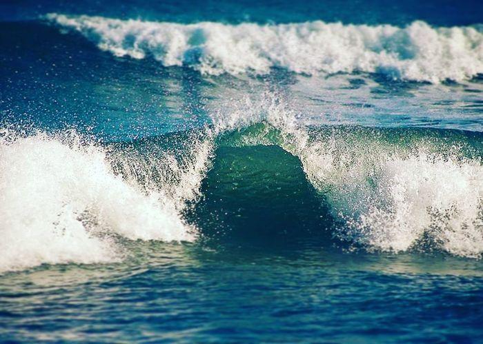 Mar Playa Azules Tranquil Scene Natulareza Vacations Ola Water Sea Wave Close-up Power In Nature
