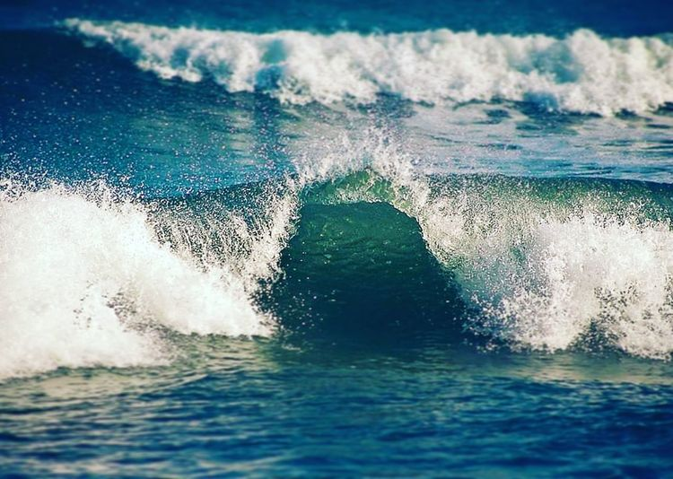 Mar Playa Azules Tranquil Scene Natulareza Vacations Ola Water Sea Wave Close-up Power In Nature