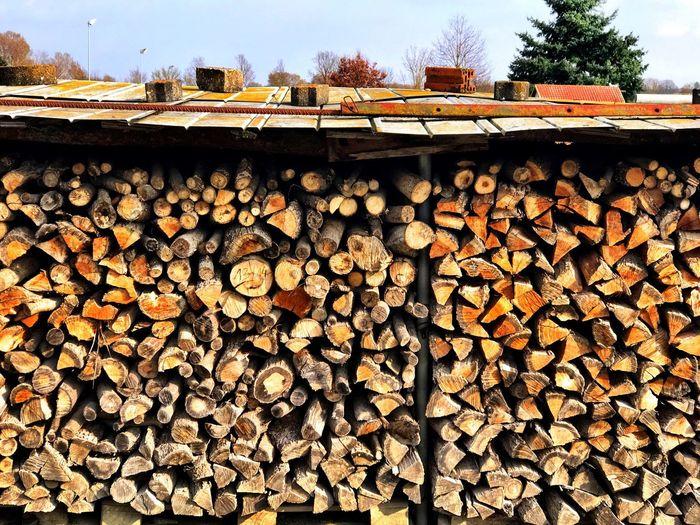 EyeEm Nature Lover Log Stack Woodpile NewEyeEmPhotographer IPhoneography Wood No People