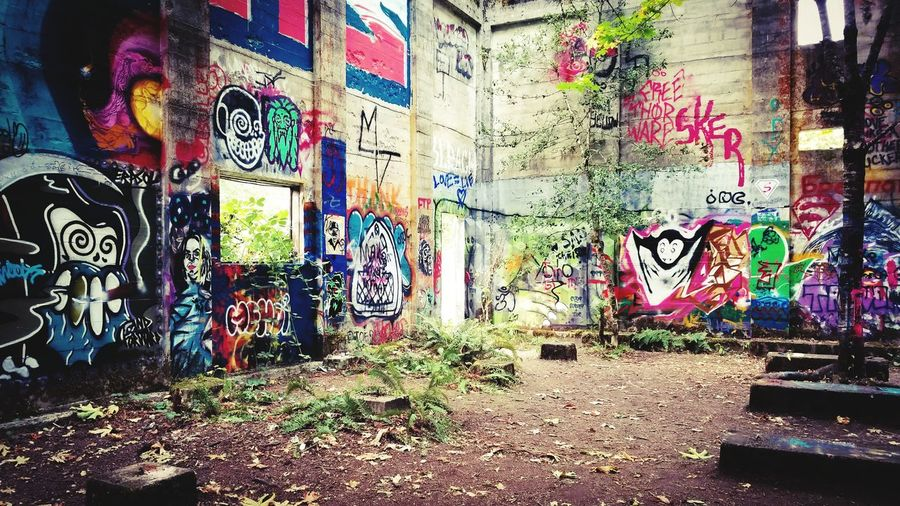 Graffiti Art And Craft Creativity Multi Colored Street Art Spray Paint Architecture Built Structure Building Exterior Day Outdoors No People Decayedamerica Vernonia, OR Darryn Doyle Check This Out Decayed Beauty Abandoned