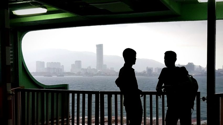 Penang Penang Island Penangisland Penang, Malaysia Penang Malaysia Georgetown Penang George Town Penang George Town, Penang Malaysia Komtar Penang Penang Ferry Komtar Ferry Urban Skyline Skyscraper Cityscape City Two People Silhouette Togetherness
