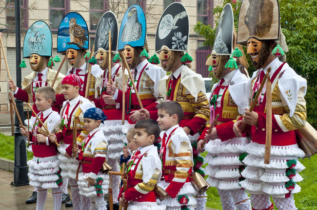 Verin Carnival Spain Tradition Verin Carnival Spain Verín Adult Boys Carnibal Carnibal Du Loup Celebration Child Childhood Day Large Group Of People Men Outdoors People Standing Togetherness