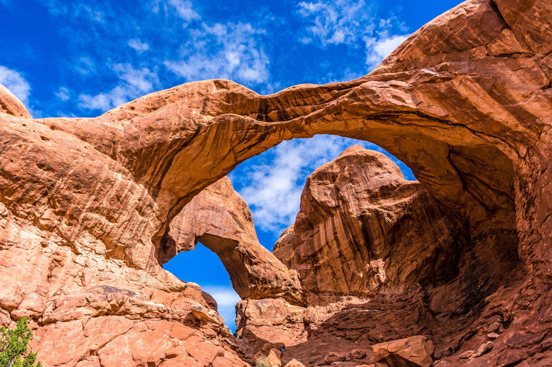 Arches National Park, Utah Backgrounds Beauty In Nature Blue Cloud - Sky Day Desert Landscape Natural Arch Nature No People Outdoors Rock - Object Scenics Sky Sunlight