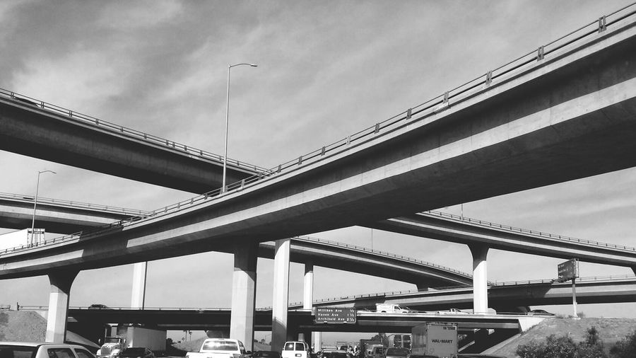 Low Angle View Of Freeway Bridge