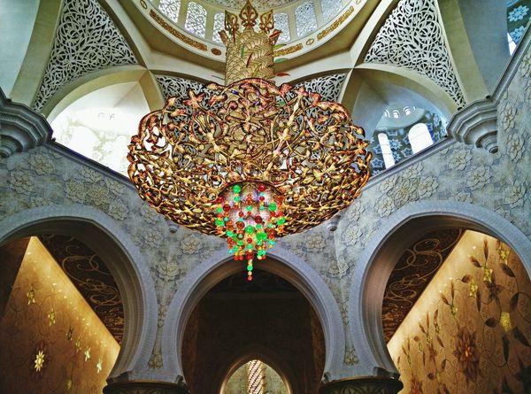 Abudhabi Zayedmosque Chandelier Mosque United Arab Emirates UAE Travel Diamonds Swarovski