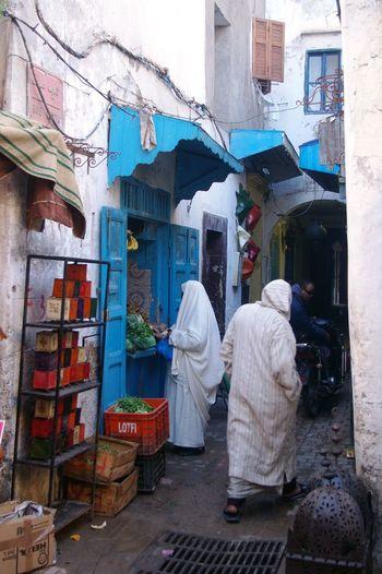 Arabic City Life Shop Store Trade White Clothes