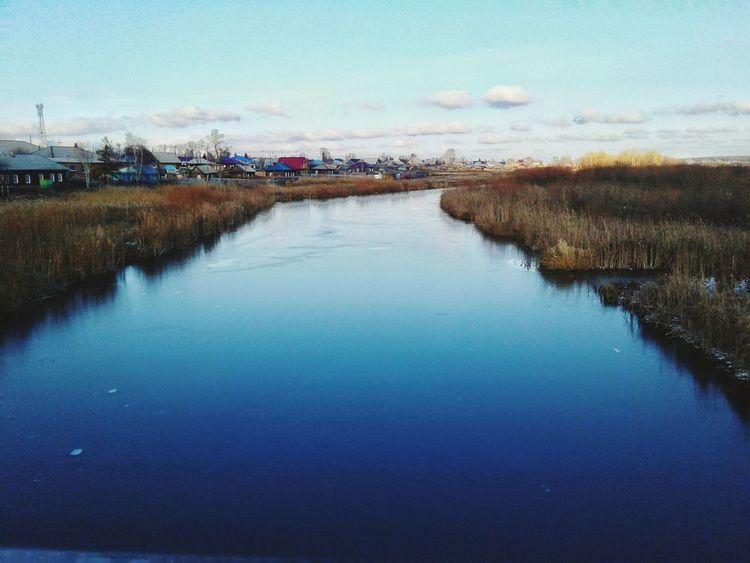 река Природа флора вечер холод Water голубой No People Nature