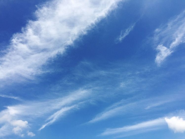 Se siente casi como una pintura Sky Low Angle View Blue Nature Cloud - Sky Cloudscape Tranquility No People Day Outdoors Cirrus Beauty In Nature Scenics Backgrounds Sky Only Contrail Travelling FAR AWAY Eyem Gallery Eyem Sky_collection Travel Tranquil Scene Tranquility Clear Sky