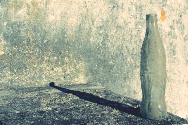 Close up of concrete shadow