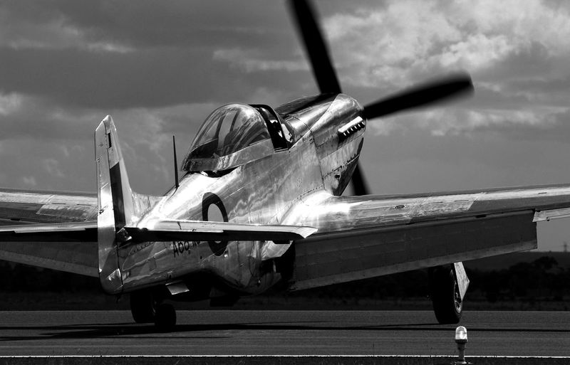 Mustang P-51 RAAF Royal Australian Air Force Air Vehicle Airplane Airport Runway Day Fighter Plane No People Outdoors P-51D Mustang Sky Transportation