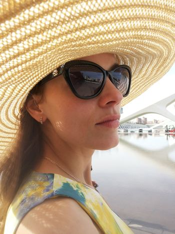 Young woman with hat and sun glasses. Hat Sun Glasses Summer Portrait Young Women Young Adult Stylish Summer Fashion