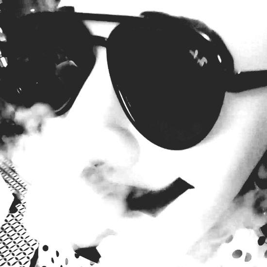 Blackandwhite Favorite Glasses Mask