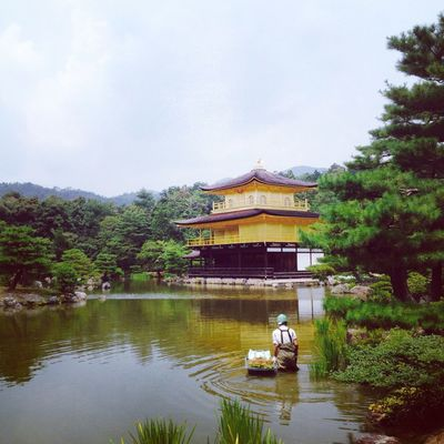 Architecture Building Exterior Built Structure Japan Kinkalow Kyoto Lake Outdoors Temple Traveling Trip Vacation Voyage Water