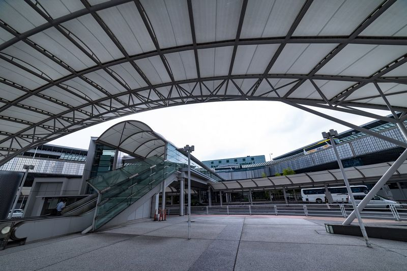 NARITAAIRPORT Airport Architecture Built Structure Day Sky Nature Metal Transportation Low Angle View Travel Bridge - Man Made Structure Arts Culture And Entertainment Travel Destinations No People Building Exterior Bridge Arch Outdoors City Connection