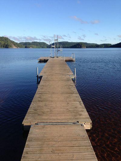 Swedish lake, dawn. Dawn Dawn Of A New Day Jetty View Jetty Diving Board Lake View Lake Lakeshore