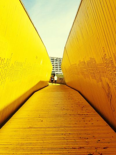 Architecture Rotterdam Urban Geometry Urban Bridge Yellow