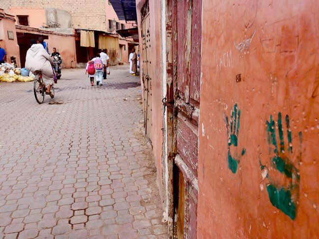 CyclingUnites Morocco Man Cycling Real People Lifestyles Outdoors Person Men City Hans Street Photography Green Color