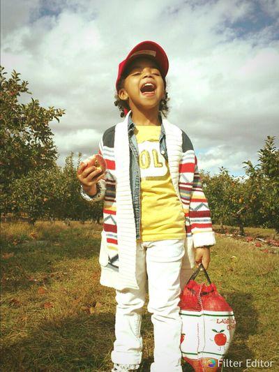 Sabreen went apple picking. Child Apple Picking apple Apple Kids