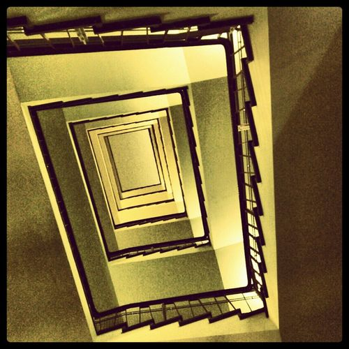 Abstract Stairs Museum DDR Look Up Get Lost
