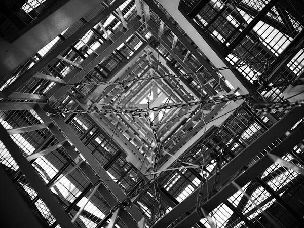 Monochrome Japan Minimalism Architecture Spiral Staircase