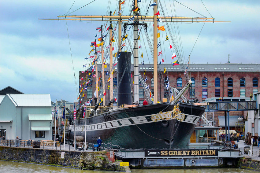 Propeller Ship Ss Great Britain Steam Ship Water Arts Culture And Entertainment Sky Cloud - Sky Building Office Building Building Exterior Exterior Historic Urban Scene Architecture