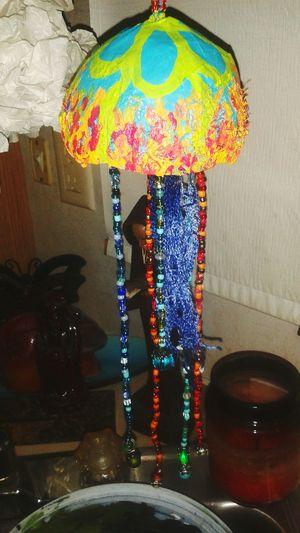 Repurposed Doghairstudio Art Recycle Coconut Jellyfish