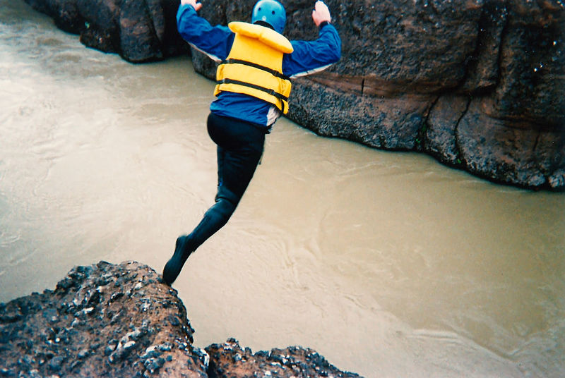 No fear of the cold stream and the height - just jump! Fearless Iceland Jump Travel Action Shot  Adventure Day Extreme Sports Full Length Leisure Activity Life Jacket Low Section Motion Nature One Person Outdoors People Real People River Rock - Object Sea Sports Water Wildwater Young Adult This Is Masculinity Go Higher