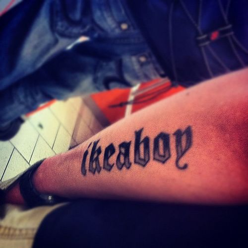 #duesseldorf #tattoo #ikea #ikeaboy IKEA Tattoo Duesseldorf Ikeaboy