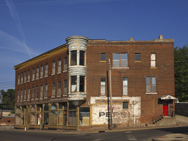 TURRET & PEPSI CORNER ~ Saint Joseph, Missouri ~ Ghost Signs  Possibly Haunted Architecture 19th Century Dreamscapes & Memories